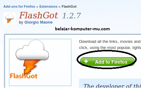 cara download youtube dengan add on flashgot dta firefox