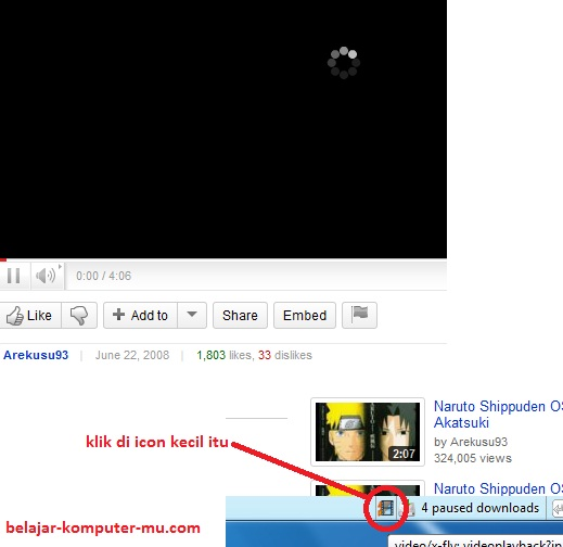 Cara download youtube dengan add on Flashgot dan DTA firefox